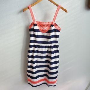 Vinyard Vines navy and white striped dress 0